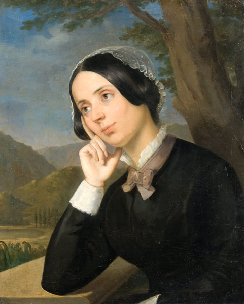 The portrait of Maria Rosetti, Constantin Daniel Rosenthal, oil on canvas, 1850, in the collection of the National Museum of Art of Romania, the Gallery of Romanian Modern Art