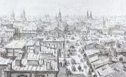 Bucharest in 1868, aquarelle by Preziosi, the Engravings Department, the Library of the Romanian Academy